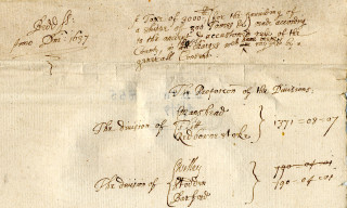 Ship money returns for 1637 from the Trevor-Wingfield collection (TW855) | photo: Bedfordshire Archives and Records Service