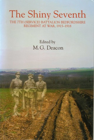 cover image: the battleground at Thiepal and three officers from the 7th Bedfords c.1916