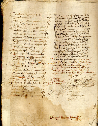 A page from the churchwardens' accounts of Eaton Socon (P5/12)   photo: Bedfordshire Archives and Records Service