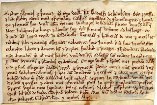 Deed from the Trevor- Wingfield collection (TW2) | photo: Bedfordshire Archives and Records Service