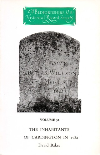 cover image: the headstone of Thomas Willson who died in the year of the survey