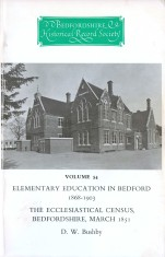 Elementary education in Bedford, 1868-1903: Bedfordshire ecclesiastical census, 1851