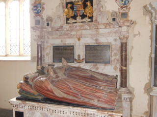 A later Earl of Kent: Henry Grey, 6th Earl of Kent d.1614 and his wife, Mary, d.1590, in Flitton Church   photo: Honor Lewington