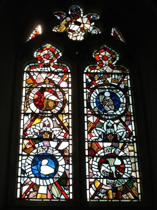 Potsgrove St Mary 1880 window uses 14c fragments | photo: Elisabeth Field