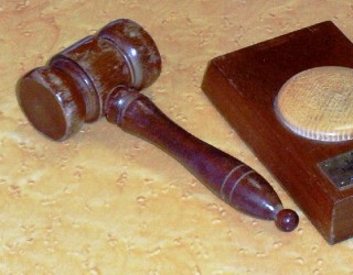 gavel and sound block | photo: Barbara Tearle