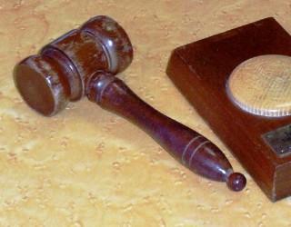 gavel and sound block | photo: Barbara Tearle