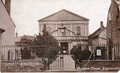 Postcard view of the Wesleyan chapel,  Biggleswade