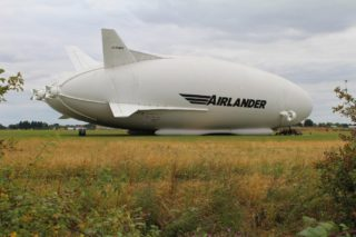 Airlander Hybrid Air Vehicle, Cardington Airfield, Bedford, 2016, prior to test flights | photo: Stuart Antrobus